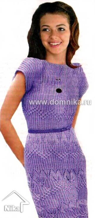 Часть 46 - Вязание платья спицами схемы Плотность вязания, ажурный узор, спицы 5:20 п. х 24 р