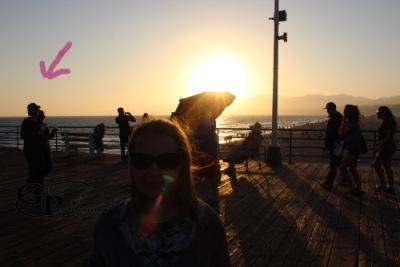 Йен и Нина в Санта-Монике