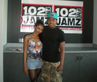 Performing at 93.3, 101.5 & 102 FLZ Studios in Tampa, Florida