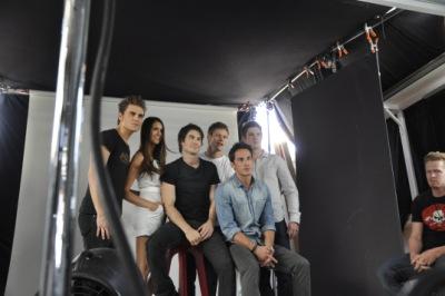 Фото со съемок фотосессии для TV Guide