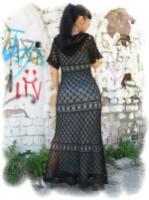 и спицами : Платье длиною в пол