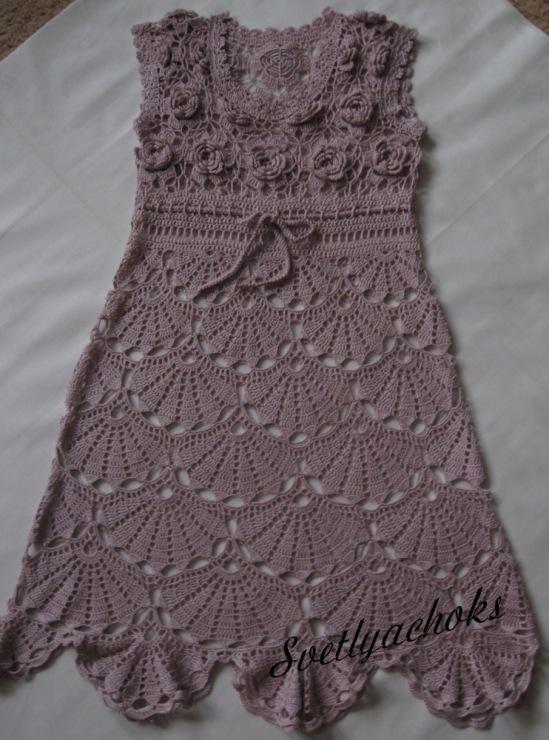 moa时尚钩针里的美裙和超美的同花不同款