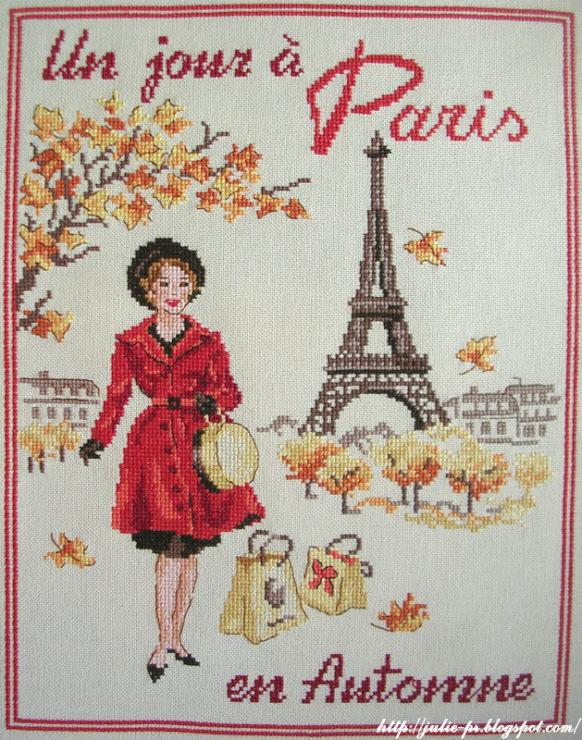 Les brodeuses parisiennes, Un jour a Paris en Automne, Париж, вышивка крест