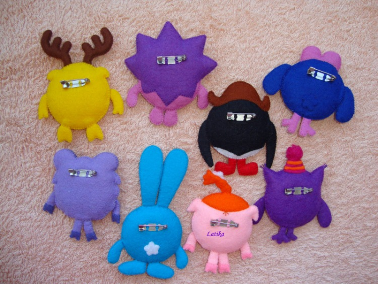 Как сделать игрушки смешарики