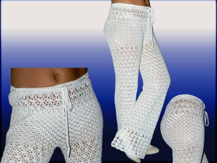 Как вязать штаны схему