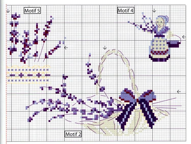 вышивка крестиком лаванда схема