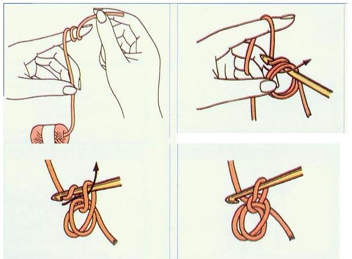 Как сделать петлю когда вяжешь