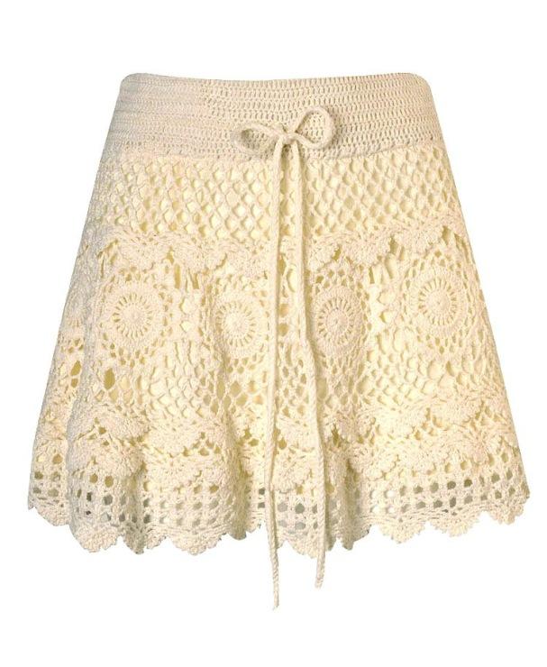Вязаные летние юбки прочно закрепились в модном летнем гардеробе. . Вязаная юбка крючком удобна