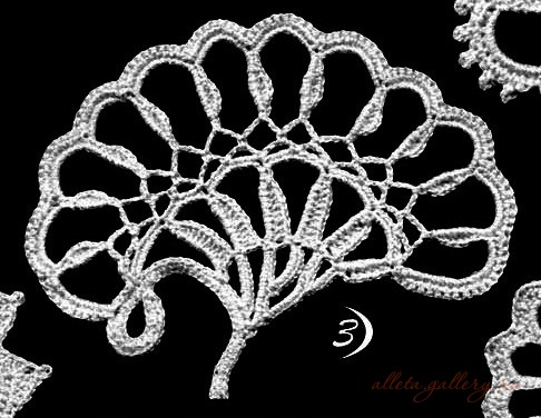 爱尔兰花边花型  12:U型和拱形花 - maomao - 我随心动