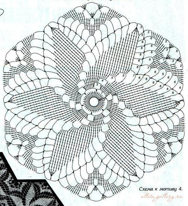 Вязание крючком спиральных мотивов 6