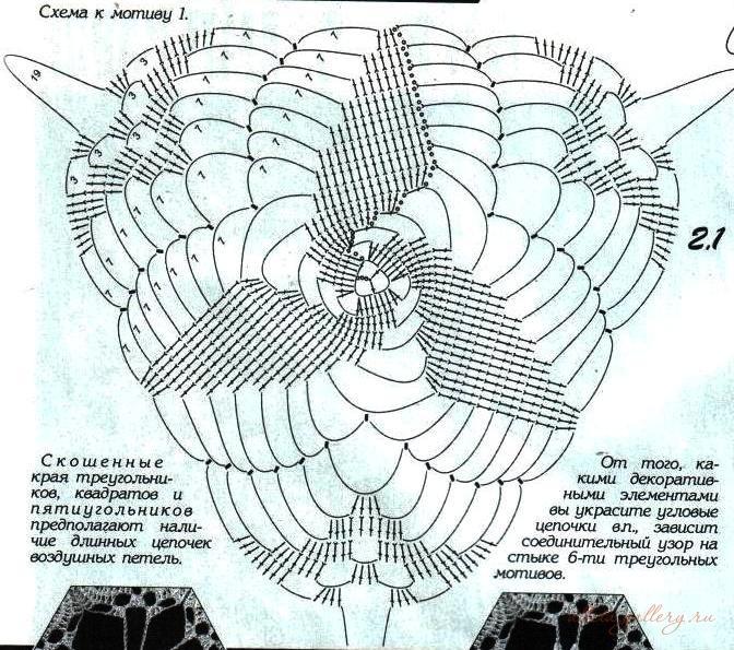 Вязание крючком спиральных мотивов 31