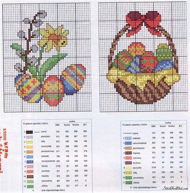Пасхальные схемки для вышивки.  Шитье, вышивка, вязание (архив) .