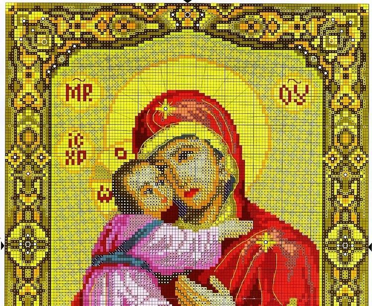 Схема вышивки икон божьей матери 238