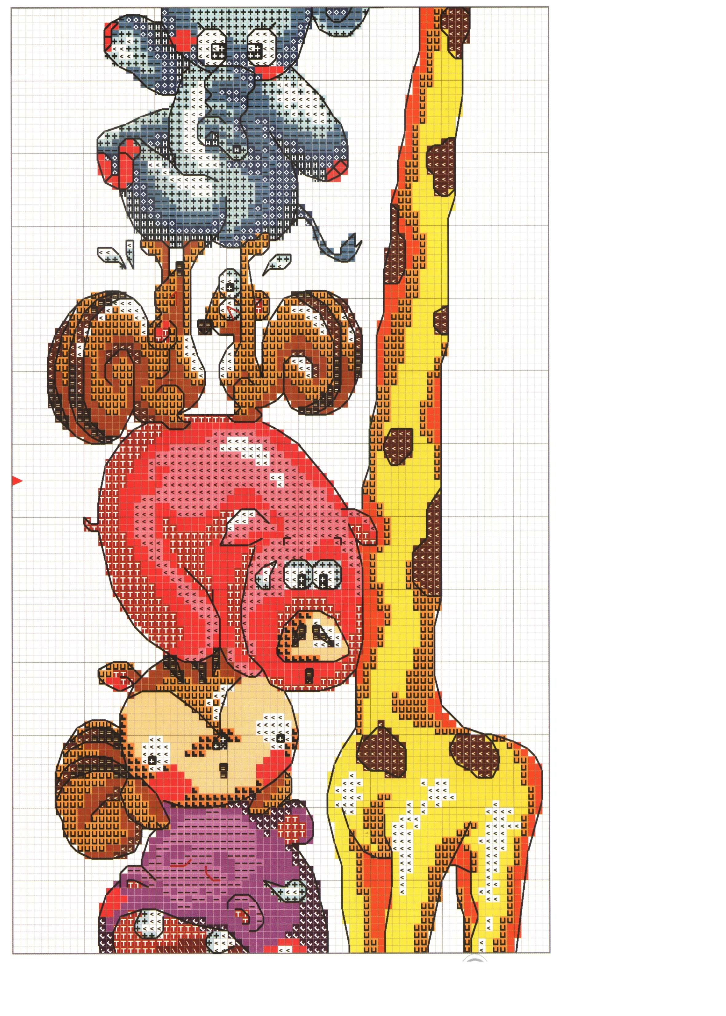 схема вышивки детского ростомера мастер класс