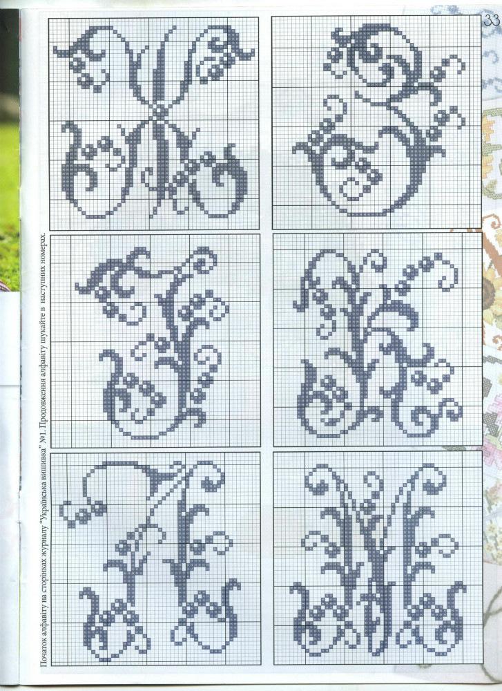 Русский алфавит крестиком