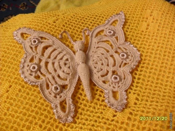 Вязаные бабочки мастер класс