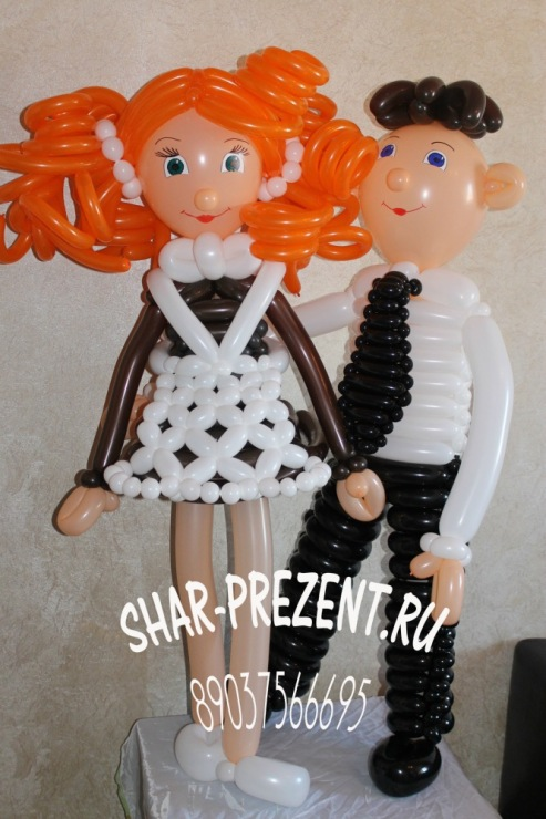 Фигура мальчик и девочка из шаров своими руками