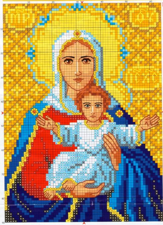 Схемы вышивок крестом бесплатно православные иконы