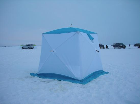 Палатку для зимней рыбалки из пленки своими руками